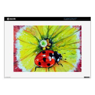 Ladybug on Flower Laptop Decals