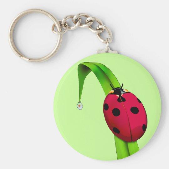 Ladybug on Grass Keychain
