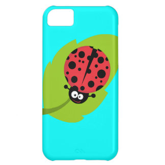 Ladybug on leaf cover for iPhone 5C