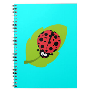 Ladybug on leaf notebook