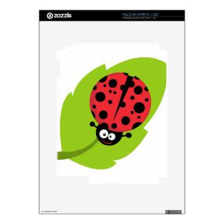 Ladybug on leaf iPad 2 skins