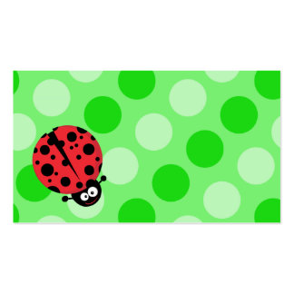 Ladybug on Polka Dots Double-Sided Standard Business Cards (Pack Of 100)