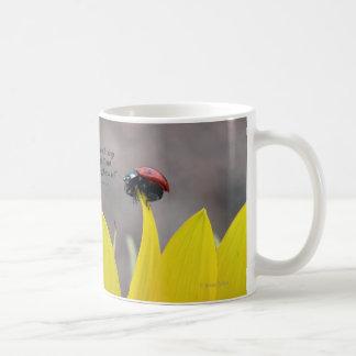 Ladybug on Sunflower Petal Mug