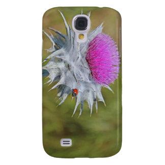 Ladybug on thistle thorn. galaxy s4 case