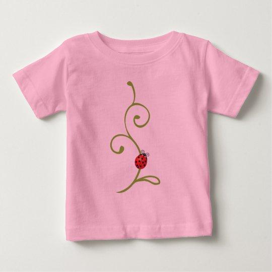 Ladybug on Vine Baby T-Shirt
