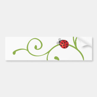 Ladybug on Vine Bumper Sticker