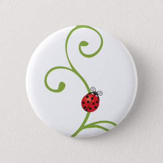 Ladybug on Vine Button