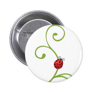 Ladybug on Vine Pinback Button