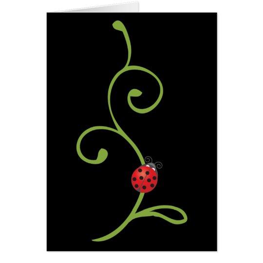 Ladybug on Vine Card