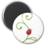 Ladybug on Vine Fridge Magnet
