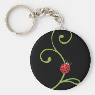 Ladybug on Vine Keychains