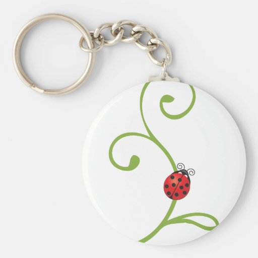 Ladybug on Vine Keychain