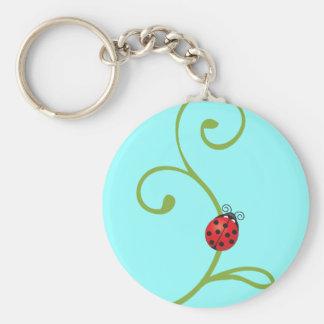 Ladybug on Vine Key Chain