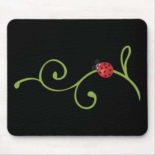 Ladybug on Vine Mouse Pad