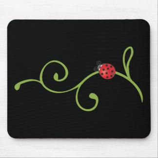 Ladybug on Vine Mousepads