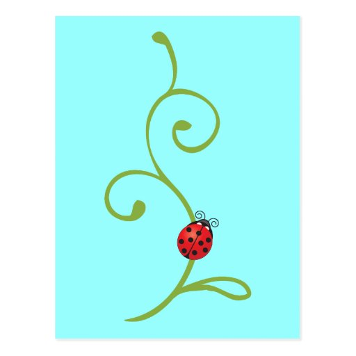 Ladybug on Vine Post Cards