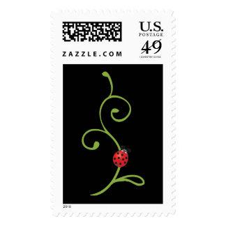 Ladybug on Vine Postage Stamps