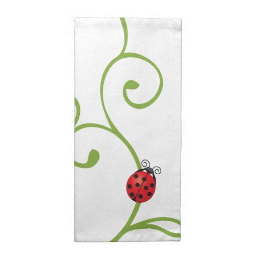 Ladybug on Vine Printed Napkins
