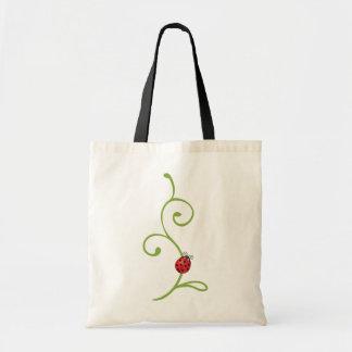 Ladybug on Vine Tote Bag