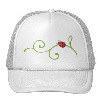 Ladybug on Vine Trucker Hat
