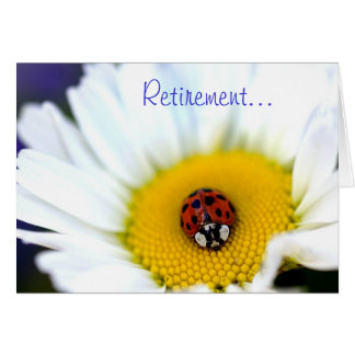 Ladybug on White Daisy Card