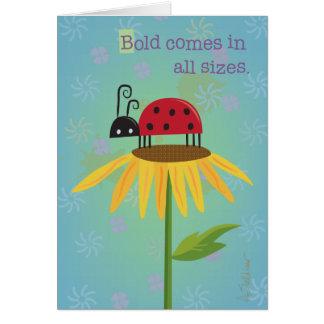 Ladybug on Yellow Flower Greeting Card
