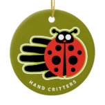 Hand shaped Ladybug ornament