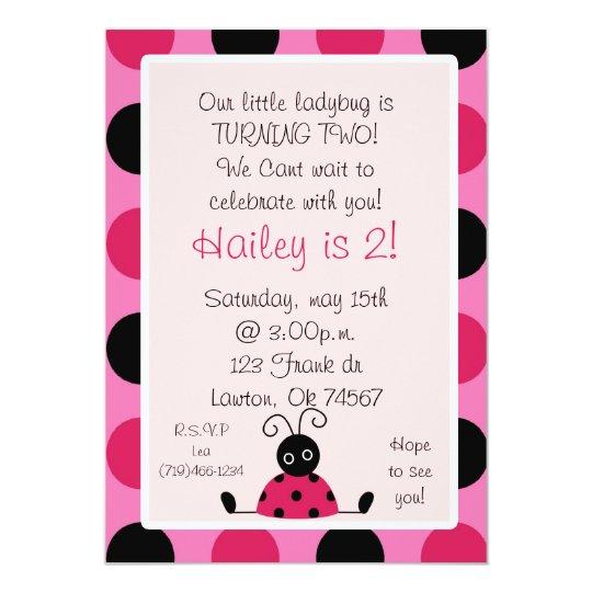 ladybug, Our little ladybug is TURNING TWO!We C... Card