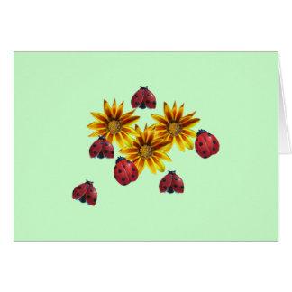 Ladybug Party Card