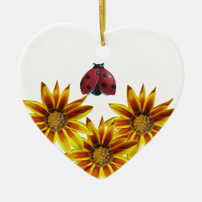 Ladybug Party Ceramic Ornament