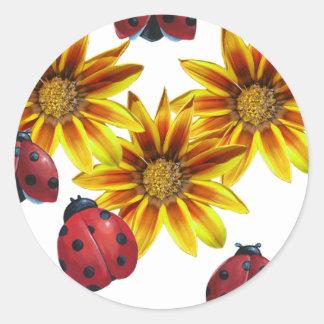 Ladybug Party Classic Round Sticker