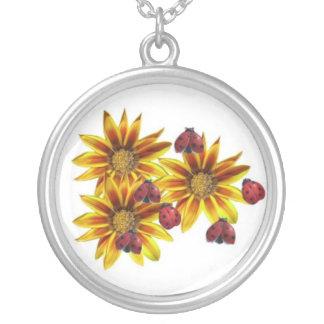 Ladybug Party Round Pendant Necklace