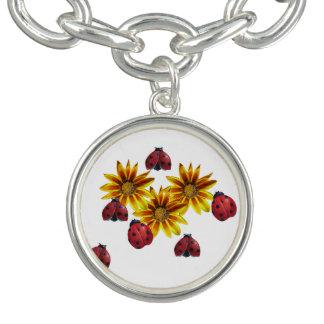 Ladybug Party Charm Bracelet