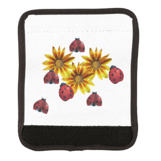 Ladybug Party Luggage Handle Wrap