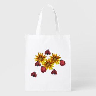 Ladybug Party Reusable Grocery Bag