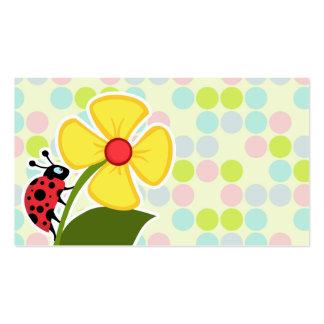 Ladybug Pastel Colors Polka Dot Business Card