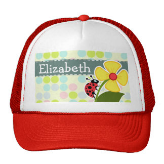 Ladybug Pastel Colors, Polka Dot Trucker Hat