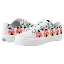 Ladybug Pattern Design Low-Top Sneakers