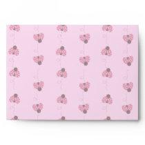 Ladybug Pattern Envelopes