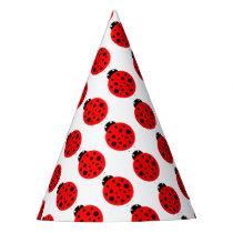 Ladybug Pattern Party Hat