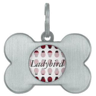 Ladybug Pattern Pet Name Tag