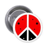 Ladybug Peace Button