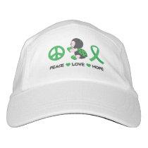Ladybug Peace Love Hope Green Awareness Ribbon Headsweats Hat