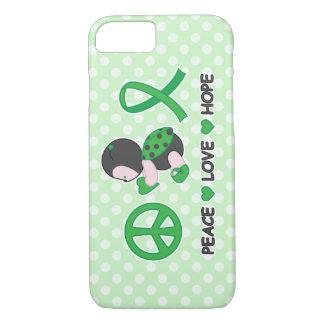 Ladybug Peace Love Hope Green Awareness Ribbon iPhone 7 Case