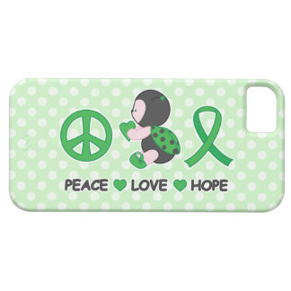 Ladybug Peace Love Hope Green Awareness Ribbon iPhone SE/5/5s Case