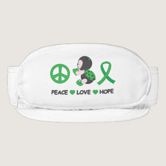 Ladybug Peace Love Hope Green Awareness Ribbon Visor