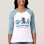 Ladybug Peace Love Hope Hurricane Sandy T Shirts