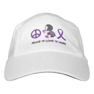 Ladybug Peace Love Hope Purple Awareness Ribbon Hat
