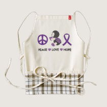 Ladybug Peace Love Hope Purple Awareness Ribbon Zazzle HEART Apron