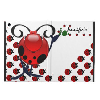 Ladybug personalized iPad air cases